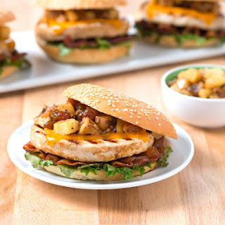 Sweet and Savory Apple Bacon Turkey Burgers.