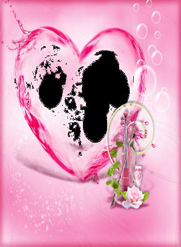 粉紅色的心臟相框