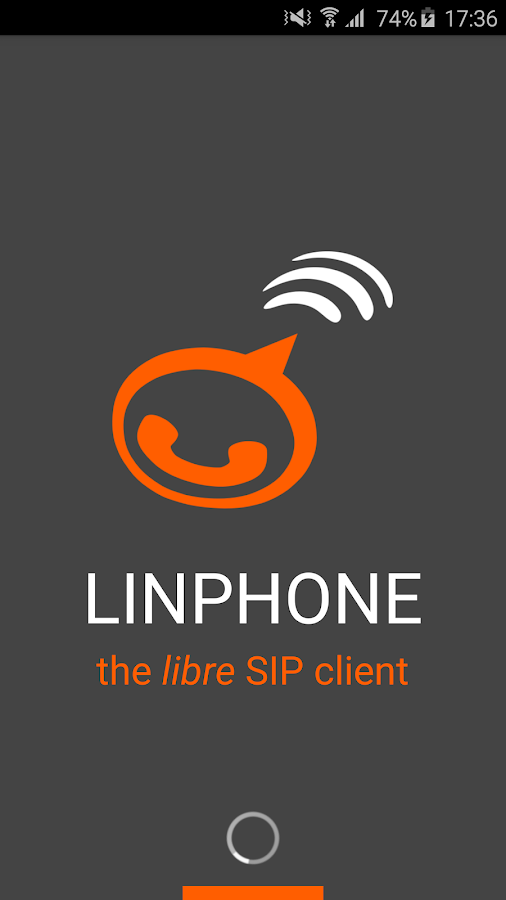 Linphone- screenshot