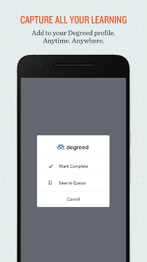 Screenshot 1 for Degreed's Android app'