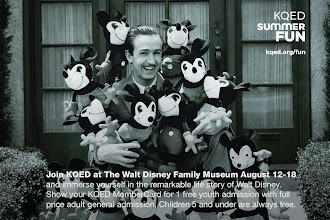Photo: Join KQED at The Walt Disney Family Museum August 12-18 and immerse yourself in the remarkable life story of Walt Disney. Show your KQED MemberCard for 1 free youth admission with full price adult general admission. Children 6 and under are always free. http://ow.ly/nH3Qd