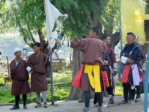 Photo: DER Nationalsport in Bhutan