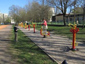 Photo: peckový skate park i s open air fitkem