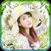 photo collage - flower frame