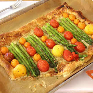 Asparagus and Gruyere Puff Pastry Pizza.