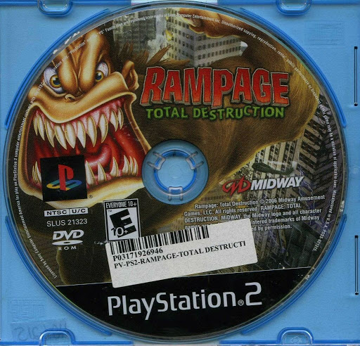 Video Game Sony Playstation 2 Rampage Total Destruction Sony