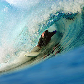 Tubed Deep by Paul Kennedy - Sports & Fitness Surfing ( tube ride, surfing, surfer, surf )