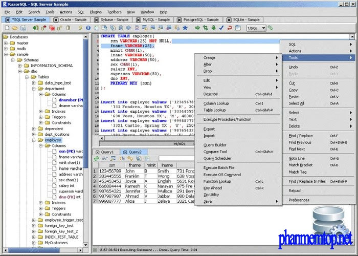 RazorSQL Free Download