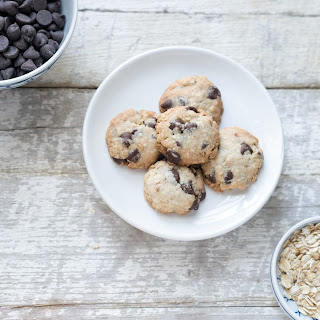 Chocolate Chip Oatmeal Shortbread Cookies.