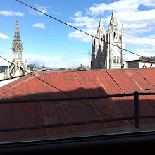 Photo: Top of the hill before we descend in the cab.  Old Town Quito.