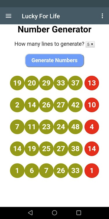 Colorado Lottery Number Generator, Reduced Systems