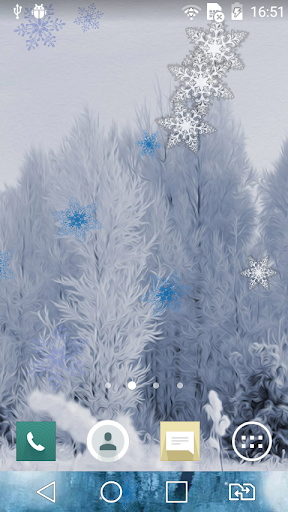 Winter scenery live wallpaper