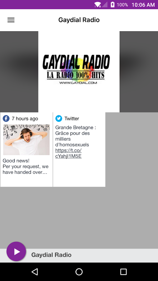 Gaydial Radio- screenshot