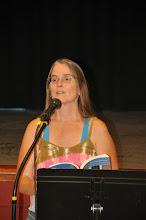 Photo: Mary Eliza Crane reads her poetry.
