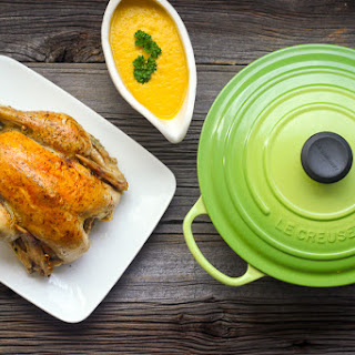 Perfect Roast Chicken with Vegetable Gravy & LeCreuset Giveaway