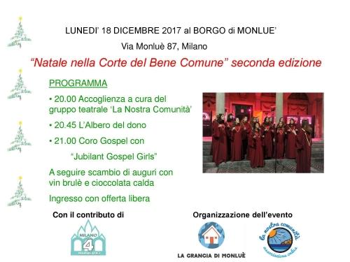 Festa Natale Cascina Monluè
