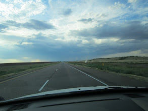 Photo: A glimpse of rain clouds west of Childress, a sight not often seen this summer -- just about anywhere in Texas!