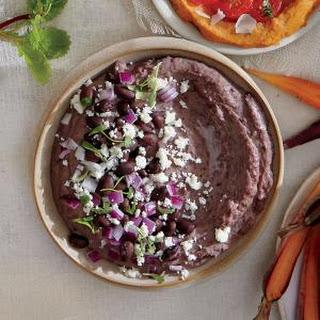 Black Bean Hummus with Queso Fresco