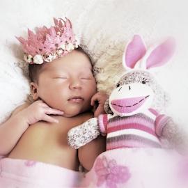 Princess & Sock Bunny by Cheryl Korotky - Babies & Children Babies