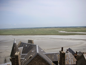 Photo: View from the walls of Mont St Michel
