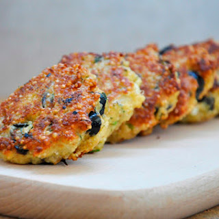 Quinoa Patties with Feta Cheese and Olives.