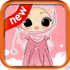 Cute Cartoon Hijab Girl icon