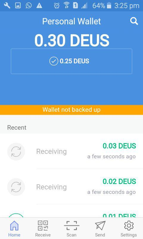Deuscoin- screenshot