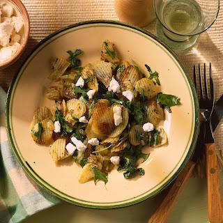 Knusprige Bratkartoffeln mit Rucola