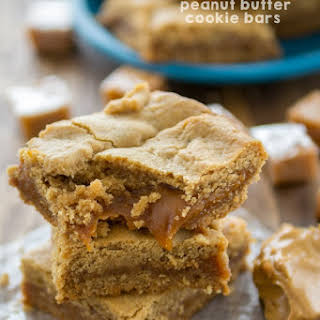 Caramel Peanut Butter Cookie Bars.