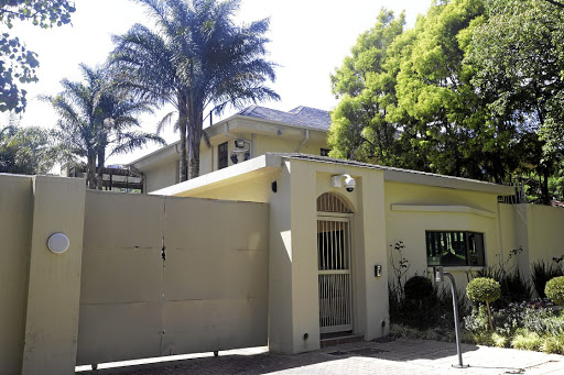 The Mandela house in Houghton where Bongani Fassie occupied a cottage.