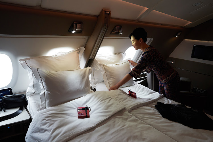 Singapore Airlines' new first-class private suites.