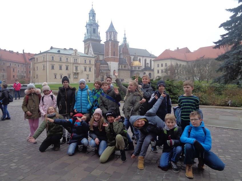 Wycieczka klas piątych do Krakowa