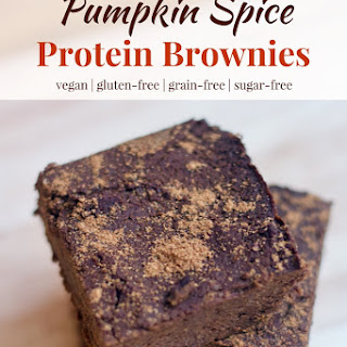 Pumpkin Spice Protein Brownies.