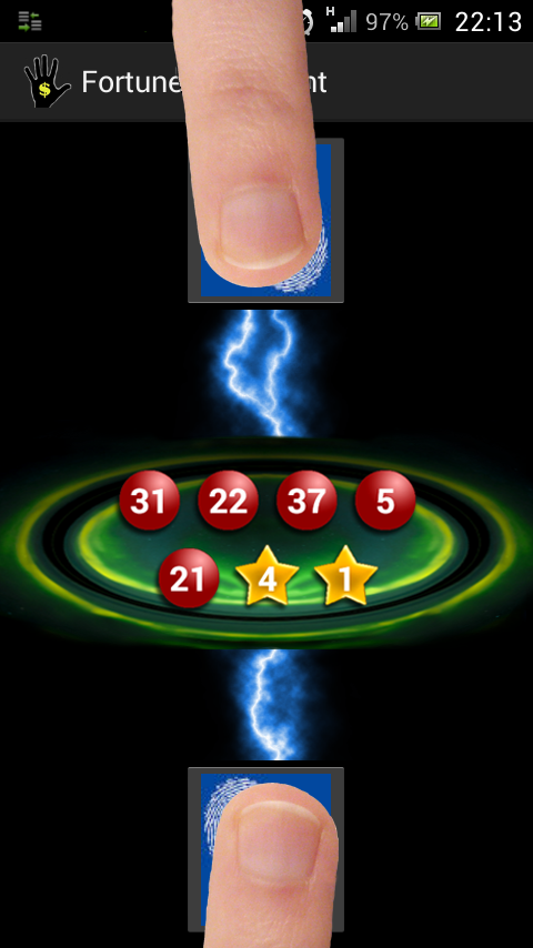 Fingerprint lucky number lotto- screenshot