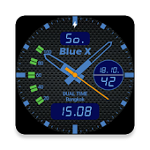 Watch Face Blue-X