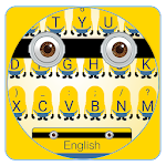 Yellow Cartoon Keyboard Icon