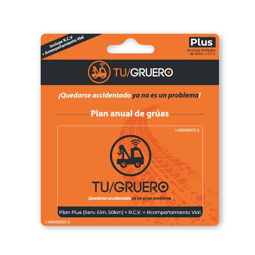 Tarjeta Tu Gruero Plan Plus Seguro de Vehiculos y RCV