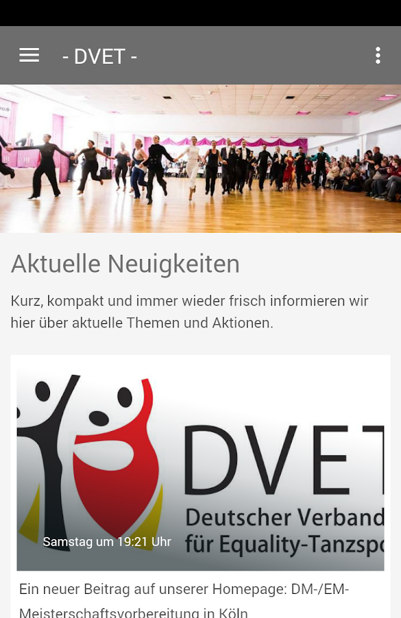 DVET- screenshot