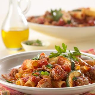 Pork and Pasta Skillet Supper.