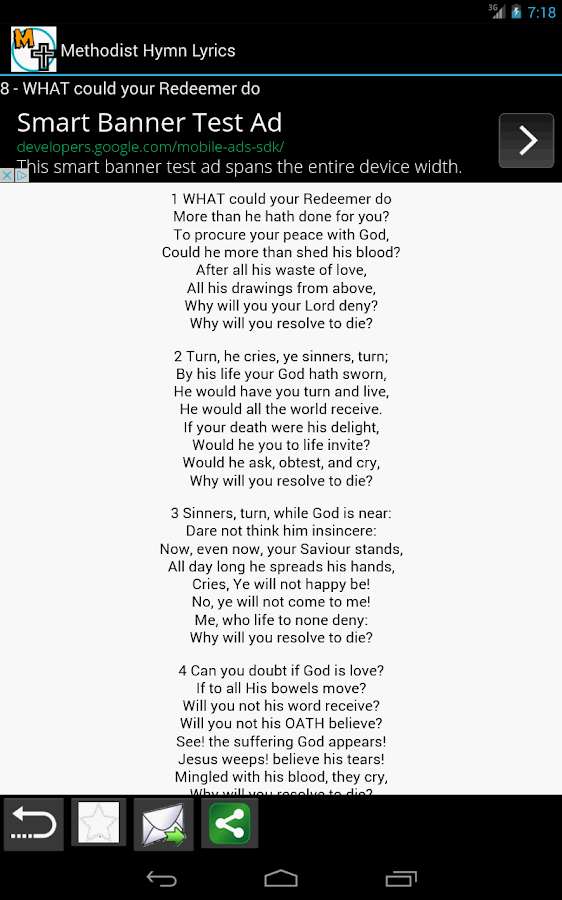 Methodist Hymn Lyrics- screenshot