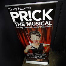 Photo: Prick The Musical Pull Up Banner on the signage (taylormadesigns) blog today, temporary, portable, reusable signage for short term events - shows, exhibitions, conferences, product launches. #eventsignage #pullup #retractablebanner