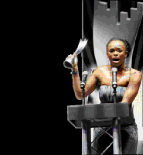SOUR GRAPES: Unathi Nkayi is the Best Female Artist, according to the Metro FM Music Awards. 29/11/2008. © ST. Pic. Cathy Pinnock.