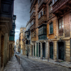 Side streets of historic Valletta by Dean Thorpe - City,  Street & Park  Historic Districts