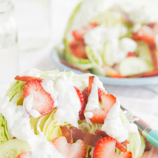 Strawberry, Bacon, and Blue Cheese Wedge Salad
