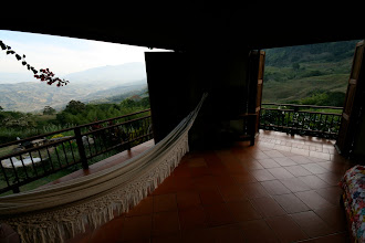 Photo: This is the view from the upstairs bedroom at the Finca. With its location on the second floor, this is probably the best view in the entire house.