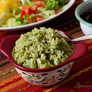 Pressure Cooker Mexican Green Rice.