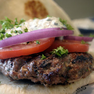 Tunisian Lamb Burgers with Cucumber Mint Yoghurt Sauce