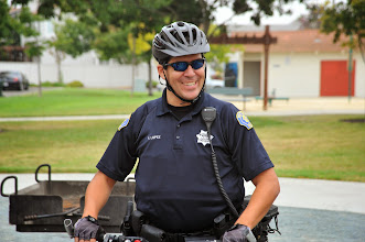 Photo: Officer R. Lopez of the Milpitas Police Department.