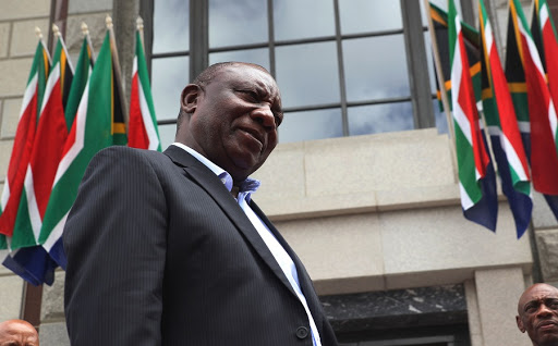 President Cyril Ramaphosa during dry run at the Parliament precinct ahead of the State of the Nation Address in Cape Town.