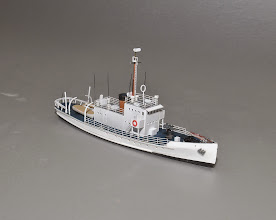 """Photo: Z Scale (1:220) Active Class Cutter: all of 6.8"""" long. STBD Bow 3/4 View. Kit is $99.00 plus shipping."""
